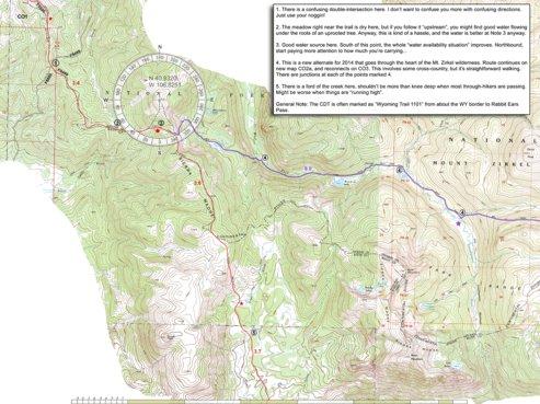Cdt Colorado Map.Cdt Colorado Sec 01 Mt Zirkel Jonathan Ley Avenza Maps