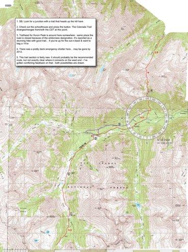 Cdt Colorado Map.Cdt Colorado Sec 06 South Sawatch Jonathan Ley Avenza Maps