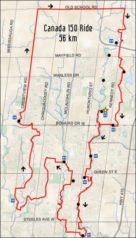 Bike the Creek - Canada 150 Ride