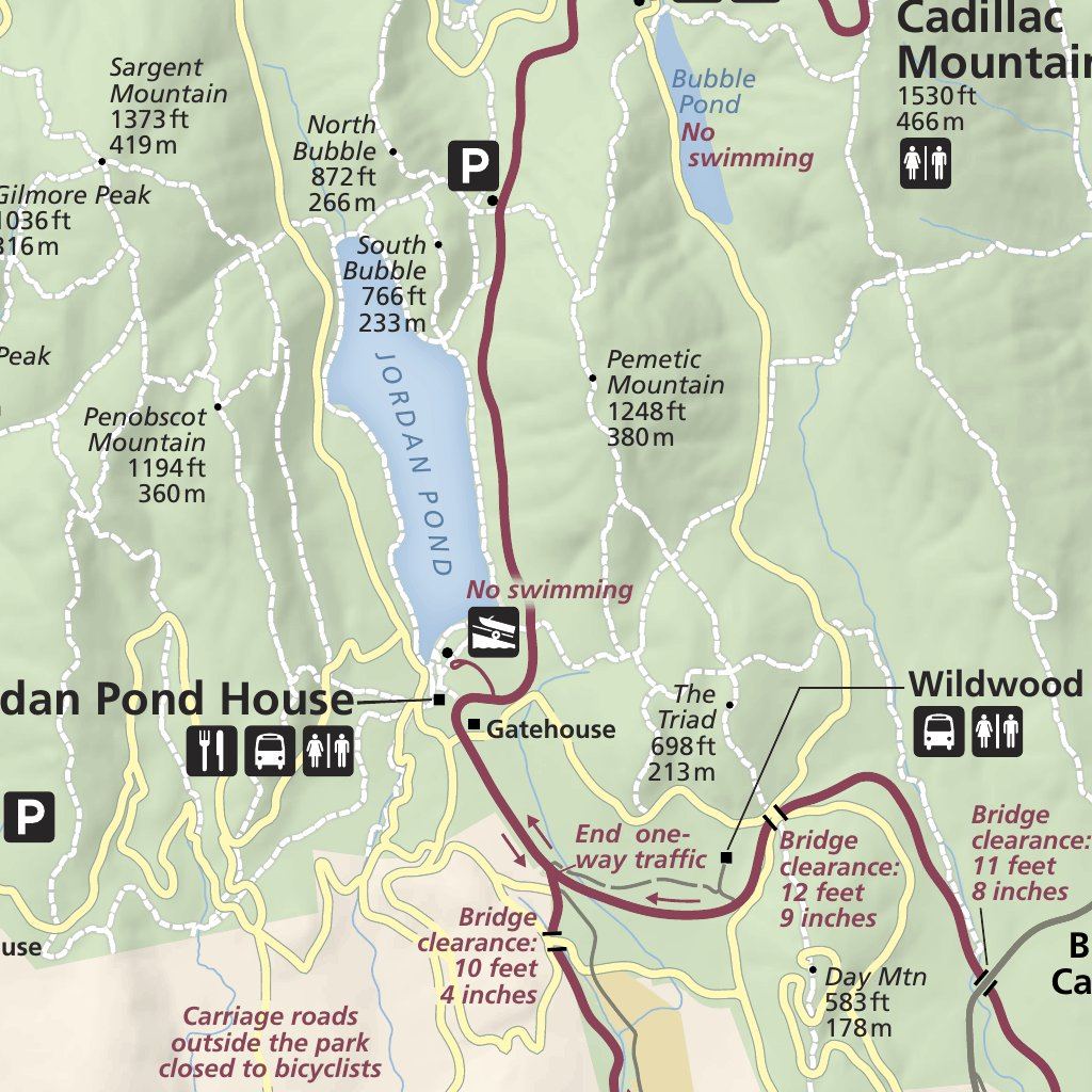 Acadia National Park US National Park Service Avenza Maps
