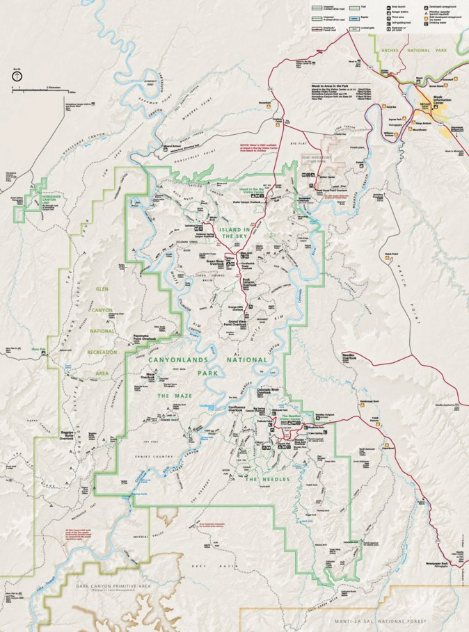 Canyonlands National Park US National Park Service Avenza Maps