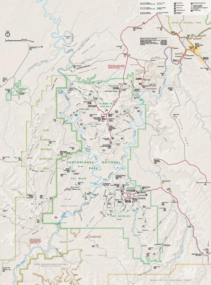 Canyonlands National Park US National Park Service Avenza Maps