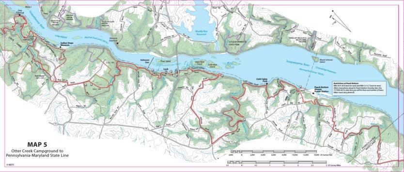 Mason-Dixon Trail Map 5- Otter Creek Campground, PA to PA/MD ...
