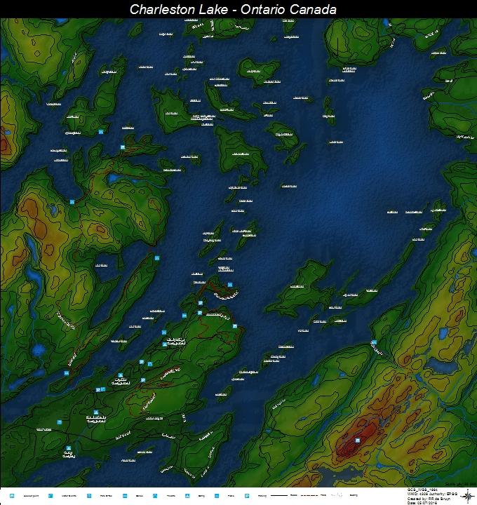 Charleston Lake - Ontario, Canada - RDB - Avenza Maps