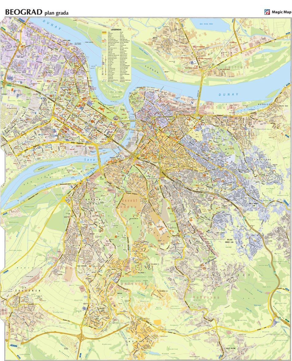 Beograd Plan Grada Geoforma Fze Avenza Maps