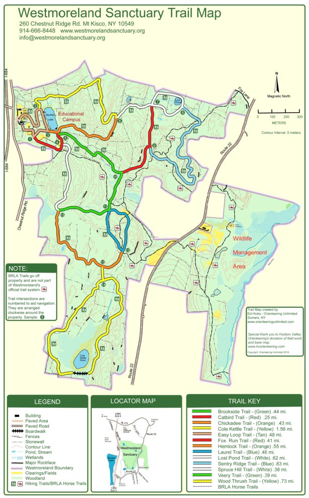 Westmoreland Sanctuary Trail Map Orienteering Unlimited Avenza Maps