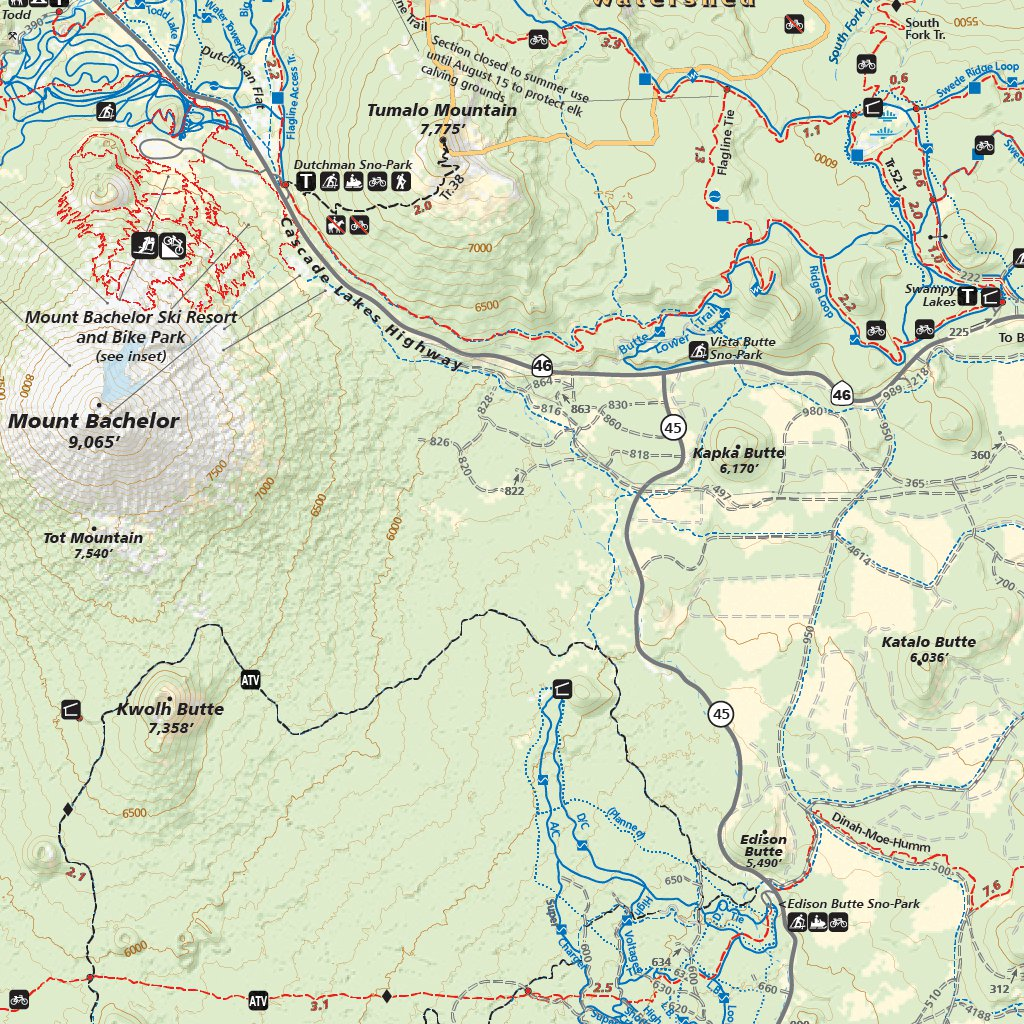 Bend Trail Map 2017 Adventure Maps Inc Avenza Maps