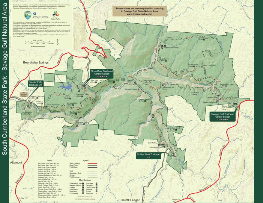 South Cumberland State Park - Savage Gulf State Natural Area - TN ...