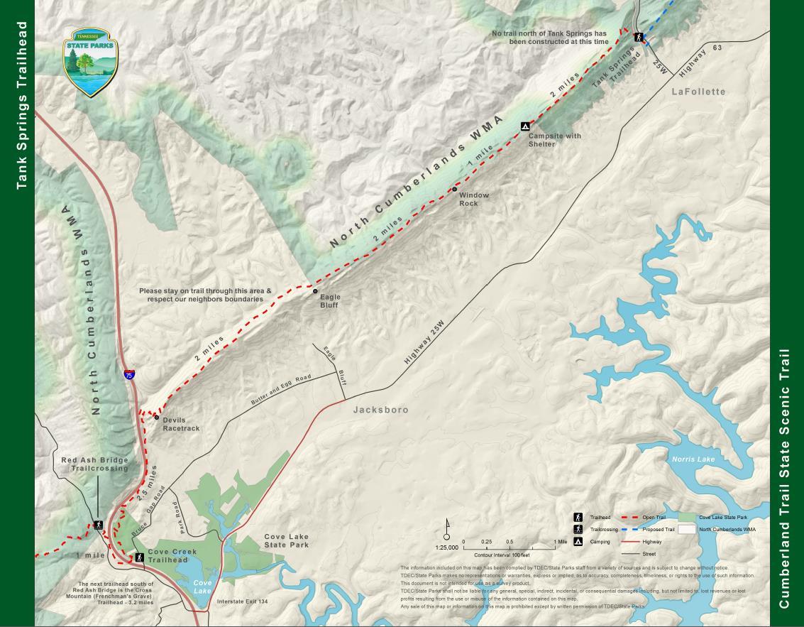 The Cumberland Trail - Tank Springs Trailhead - TN State ...