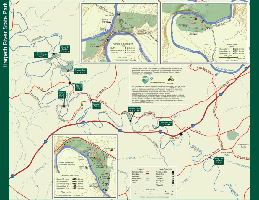 State Parks Tennessee Map.Harpeth River State Park Tn State Parks Avenza Maps