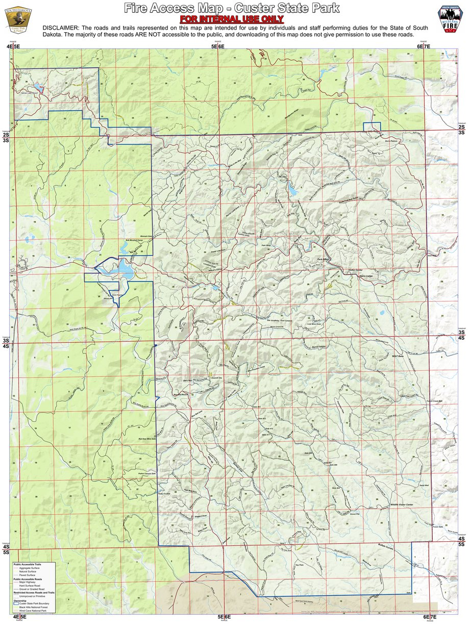 Csp Road Map South Dakota Game Fish Parks Avenza Maps