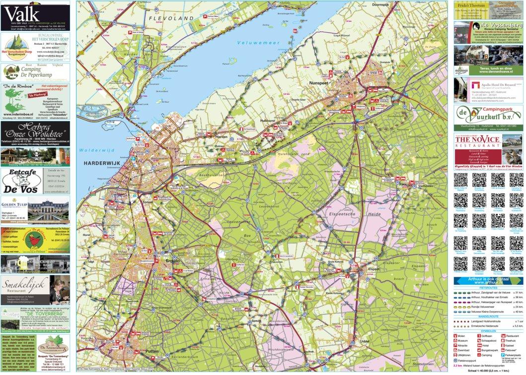 Arthuur fietsroutekaart Veluwe