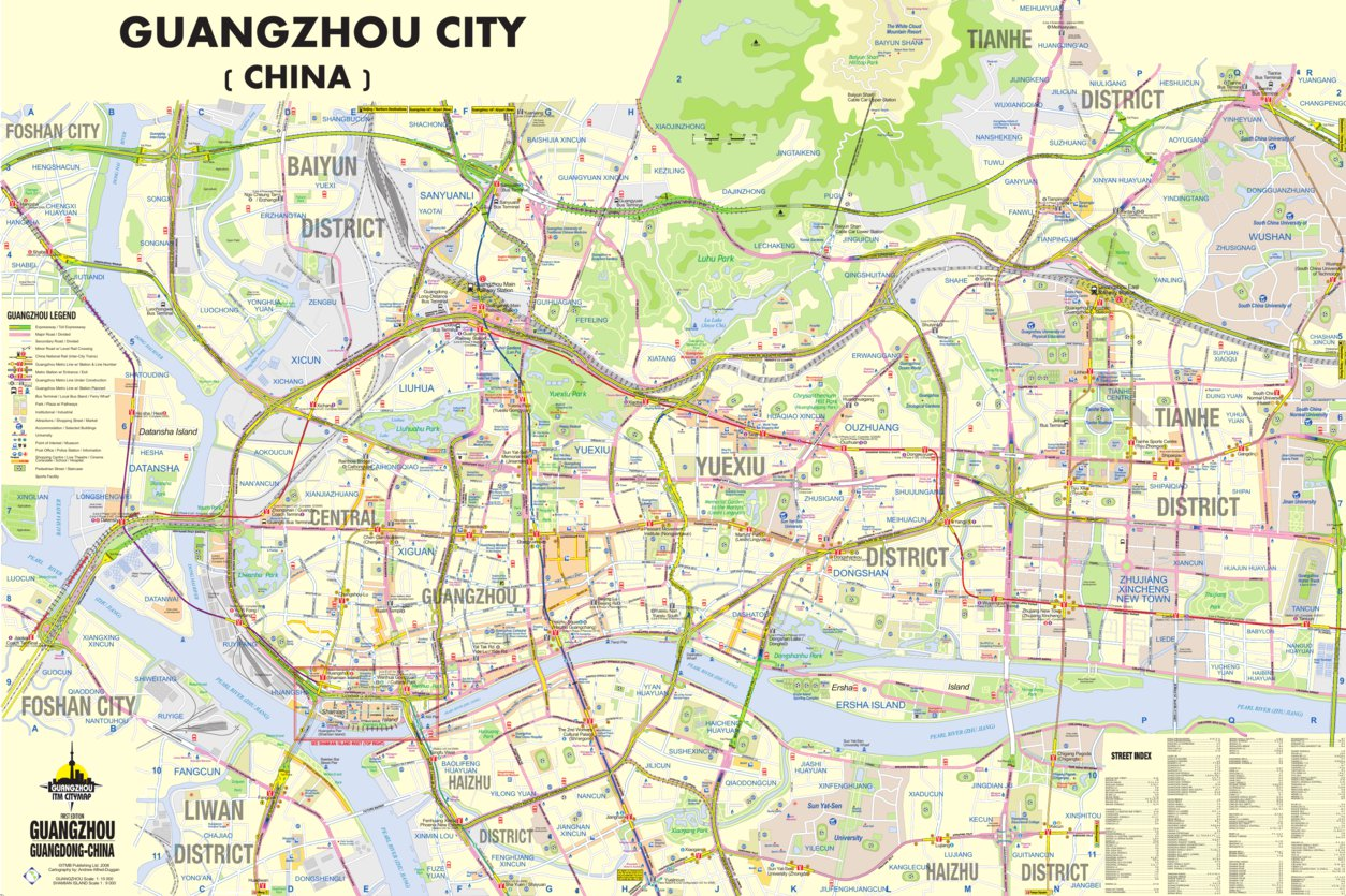 Guangzhou City, China - ITMB - ITMB Publishing Ltd. - Avenza Maps