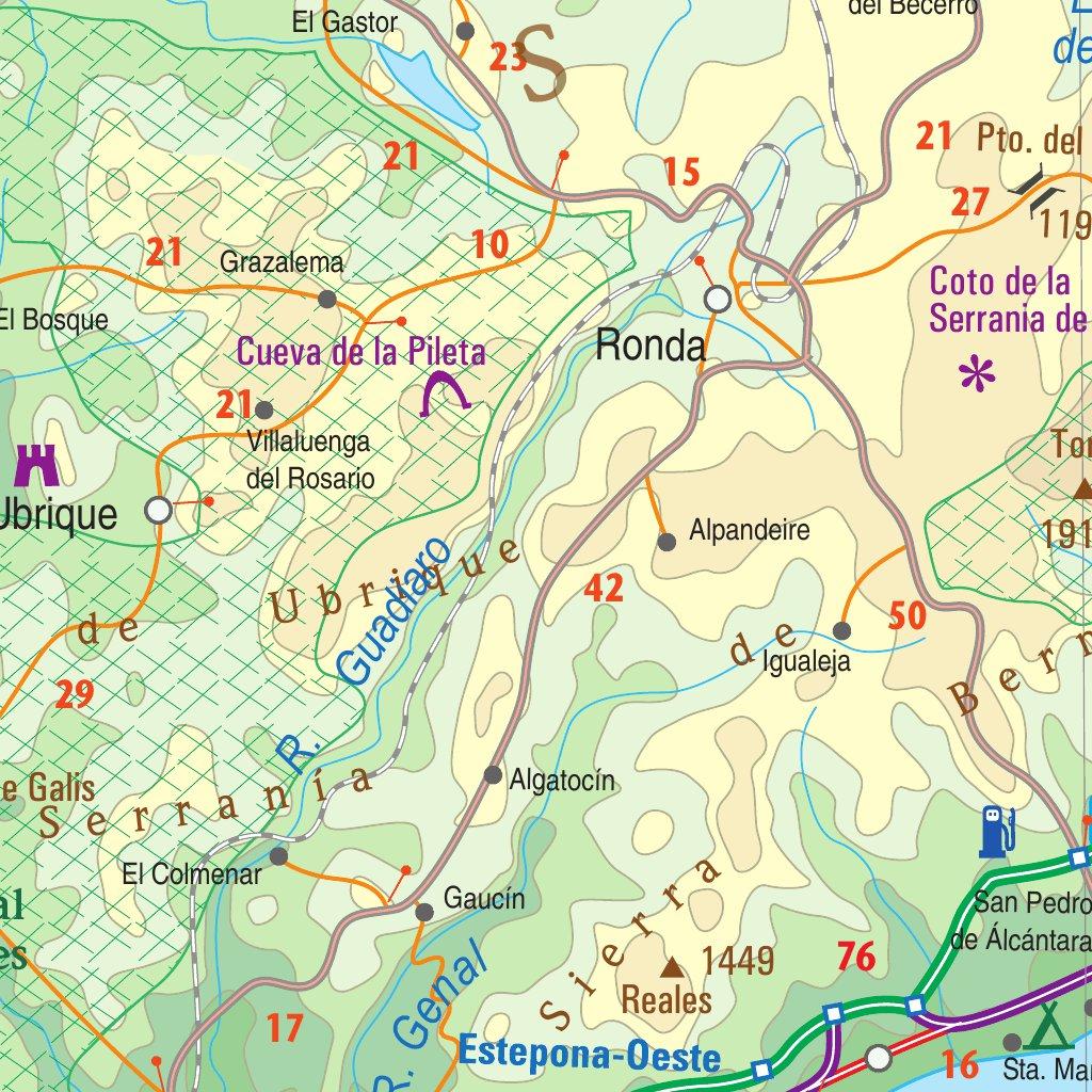 Map Of South Spain.Spain South 1 600 000 Itmb Itmb Publishing Ltd Avenza Maps