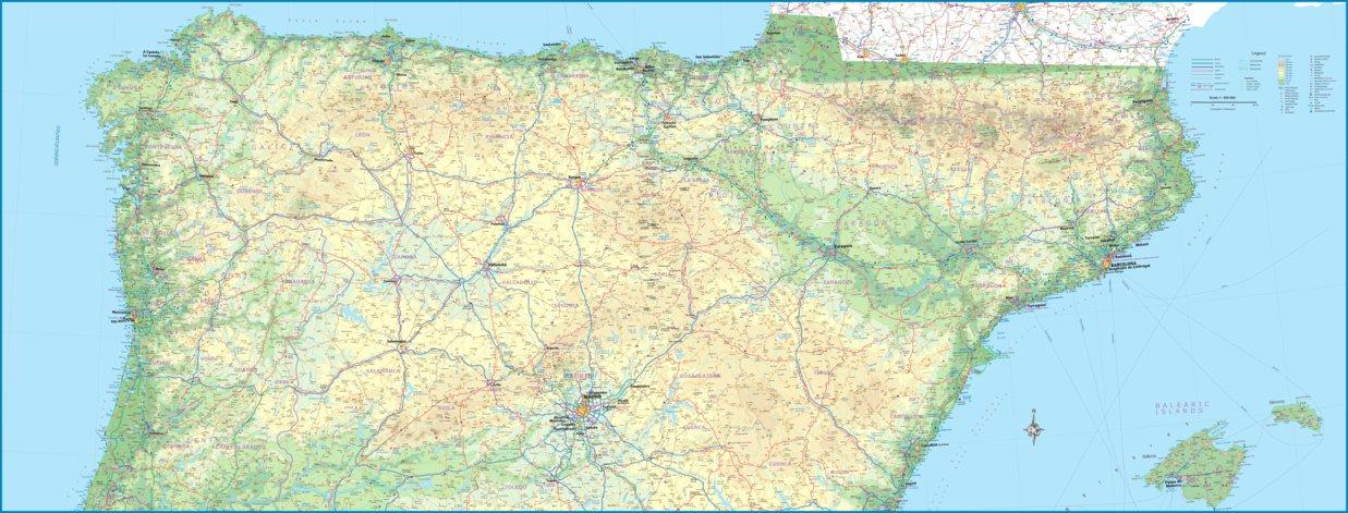 Map Of Spain North.North Spain 1 600 000 Itmb Itmb Publishing Ltd Avenza