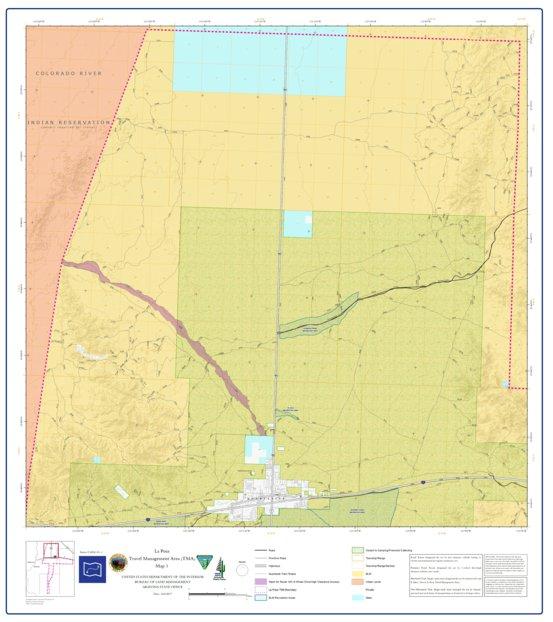BLM Arizona La Posa Access Guide Map 1 of 4 (TRV2002-01-01) - Bureau ...