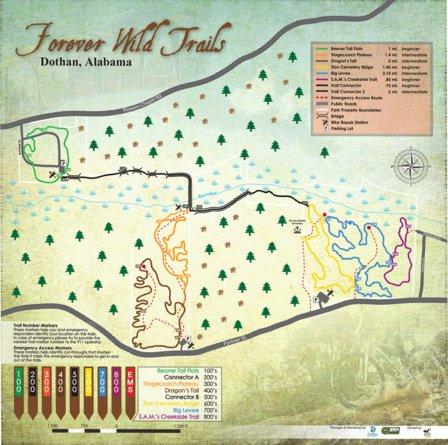 Dothan Forever Wild TrailsMap 2016 CyberHess Avenza Maps