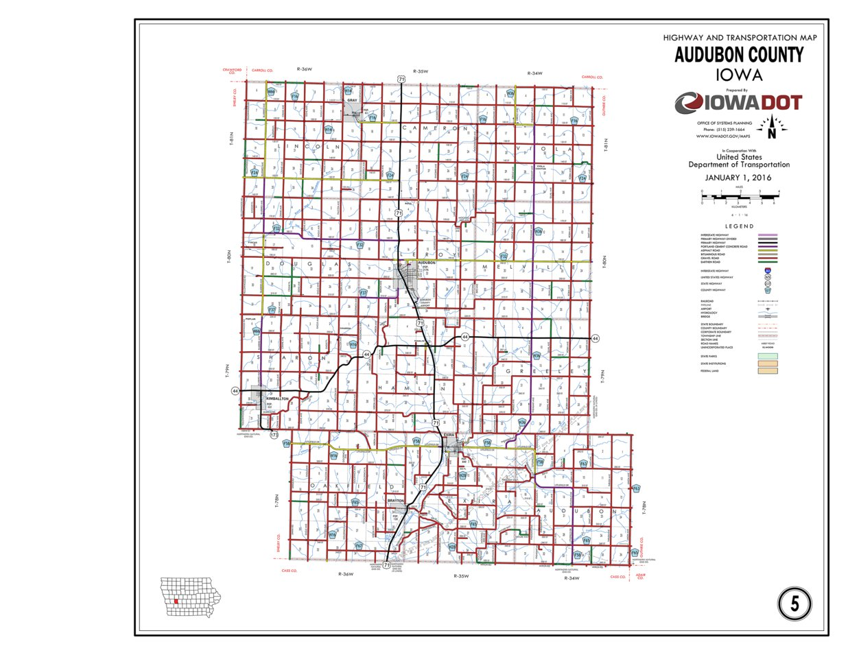Audubon Iowa Map.Audubon County Iowa Iowa Department Of Transportation Avenza Maps