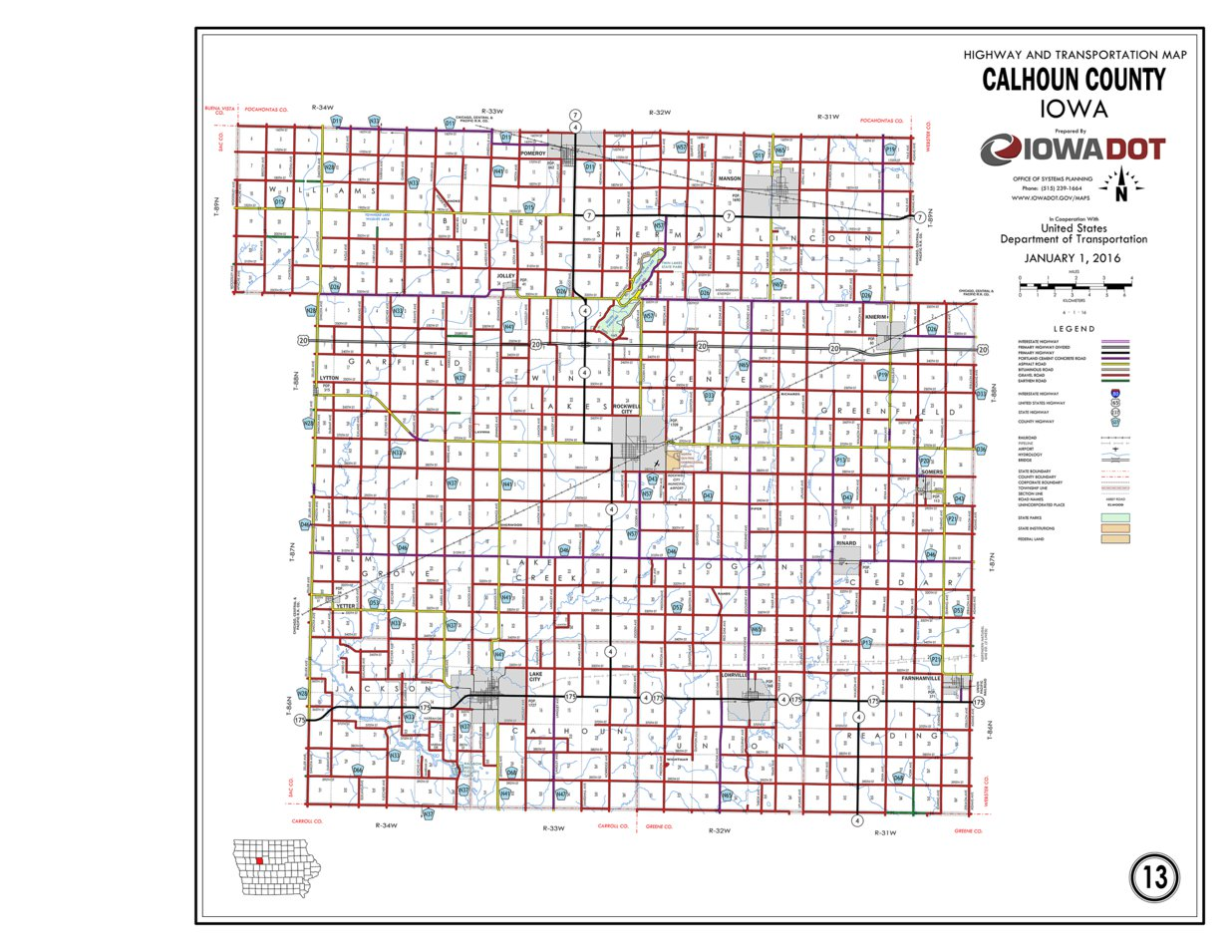 Calhoun County Iowa Iowa Department Of Transportation Avenza Maps