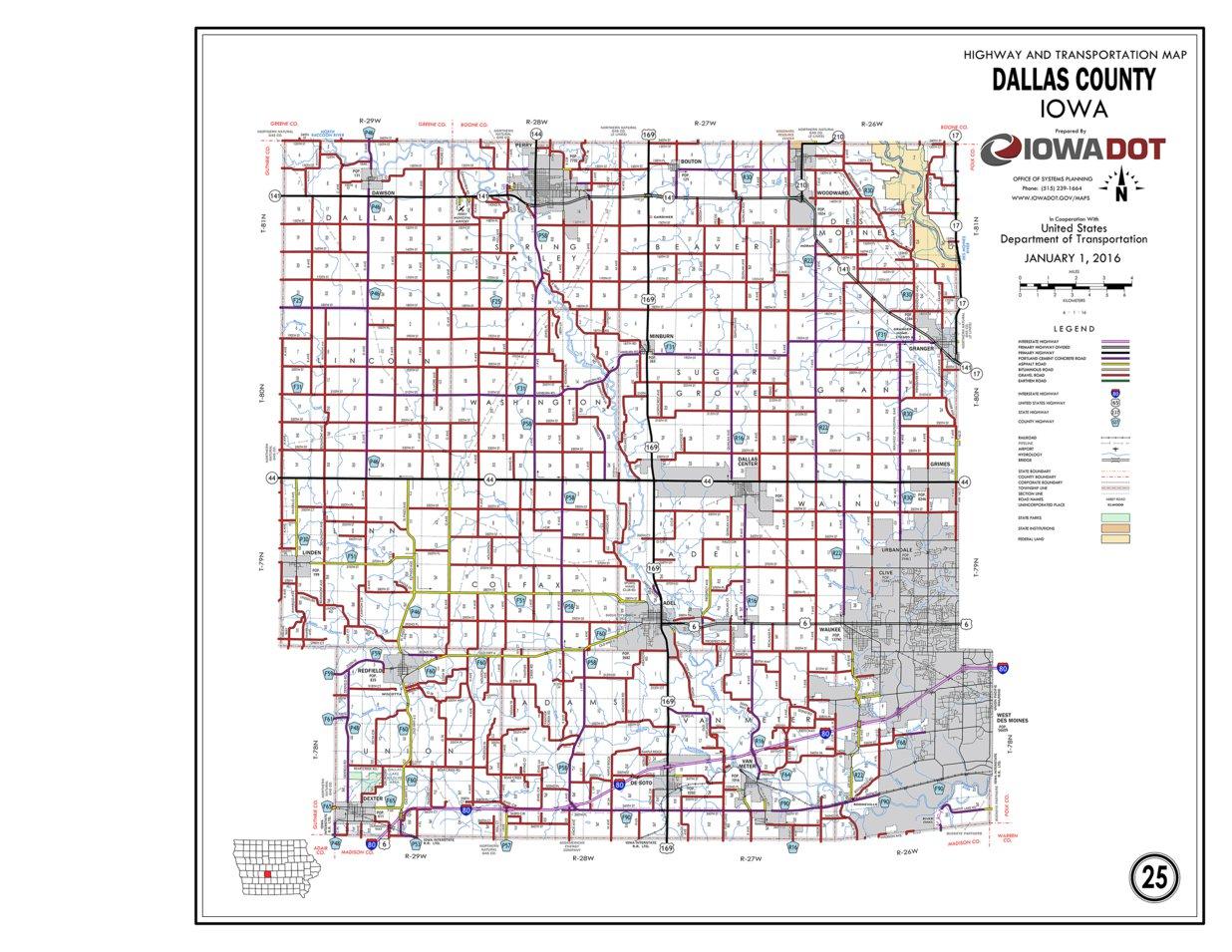 Dallas County Map on