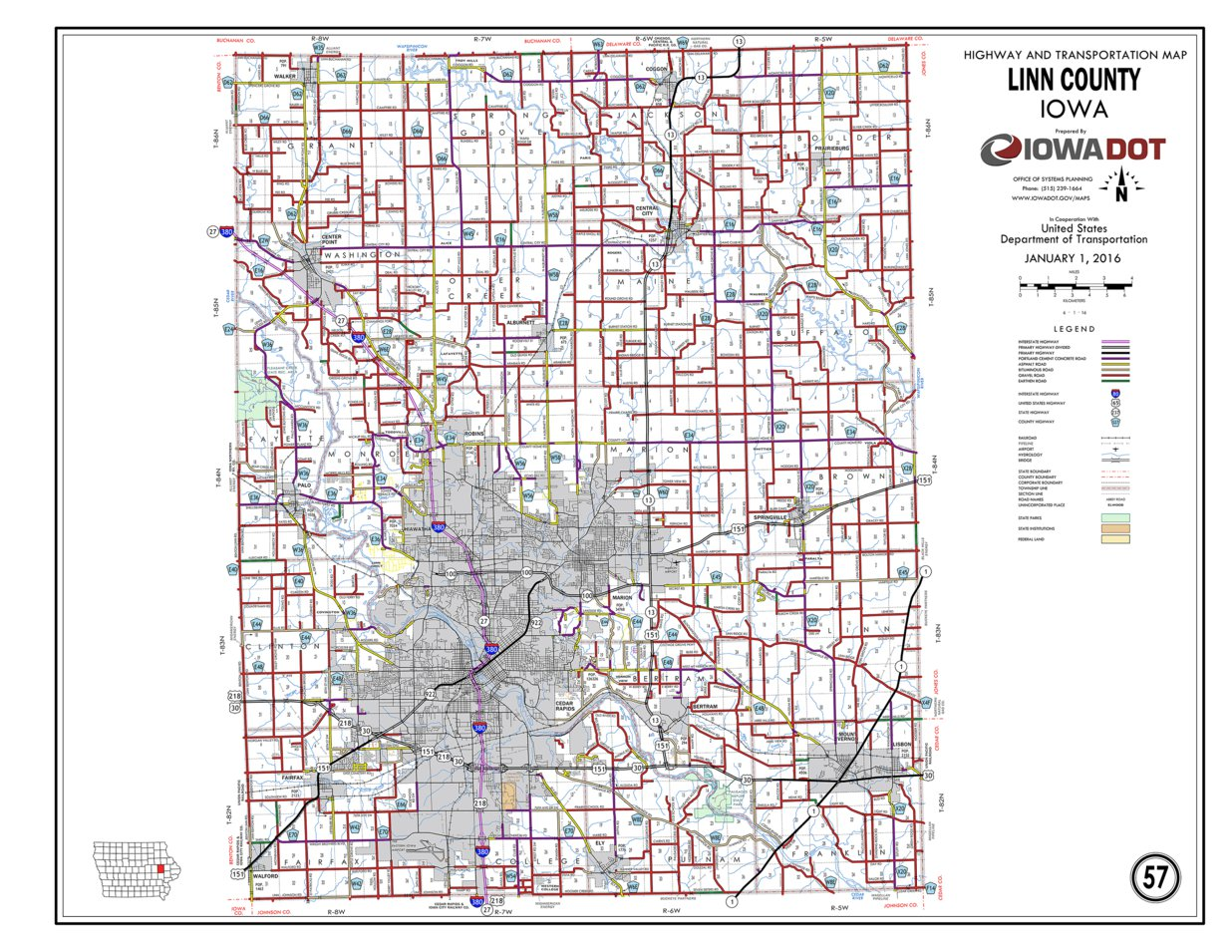 Linn County Iowa Iowa Department Of Transportation Avenza Maps