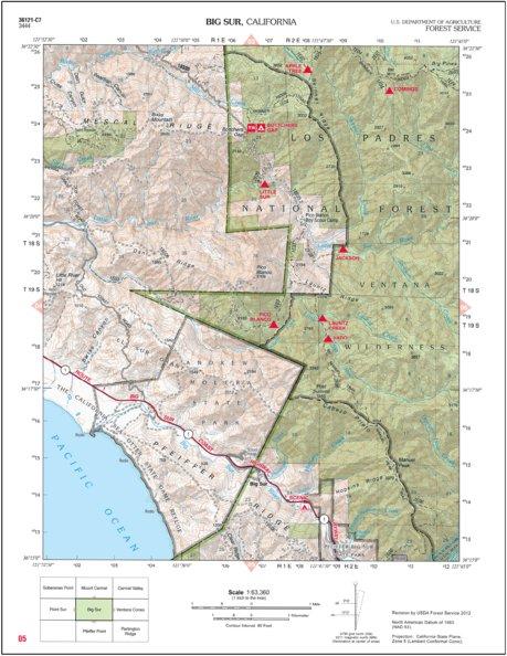 Big Sur - US Forest Service R5 - Avenza Maps Big Sur California Map on