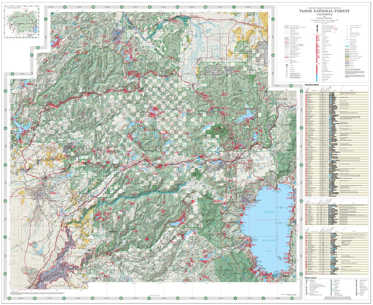 Tahoe National Forest Visitor Map - US Forest Service R5 - Avenza Maps