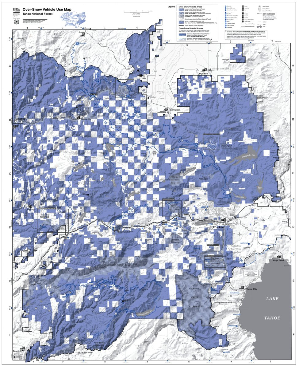 Tahoe NF Over Snow Vehicle Use Map (OSVUM) - US Forest Service R5 ...