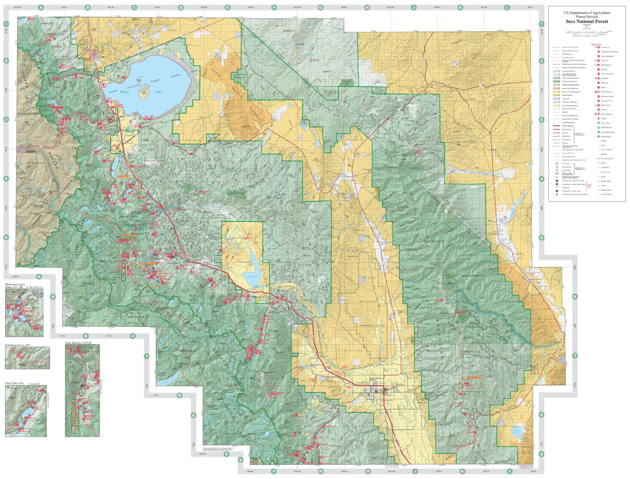Inyo National Forest North Us Forest Service R5 Avenza Maps - Us-forest-cover-map