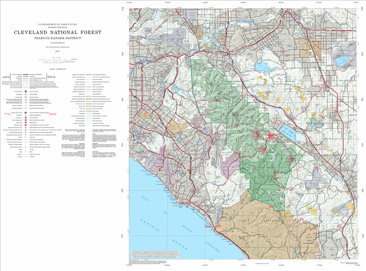 Cleveland National Forest Visitor Map (North) - US Forest Service R5 ...