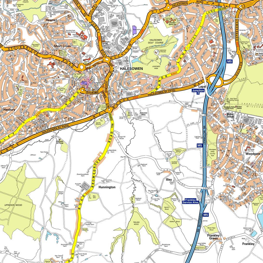 AZ Birmingham Street Bundle Geographers AZ Map Company Avenza