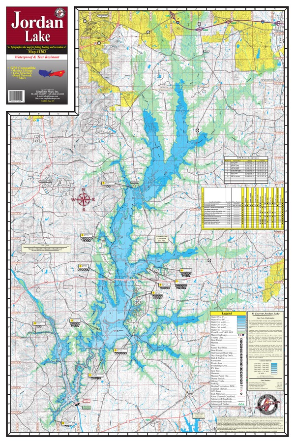 Get maps avenza maps for Jordan lake nc fishing