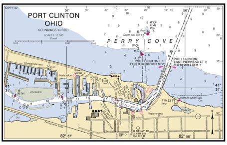 Port Clinton Ohio Inset National Oceanographic Atmospheric