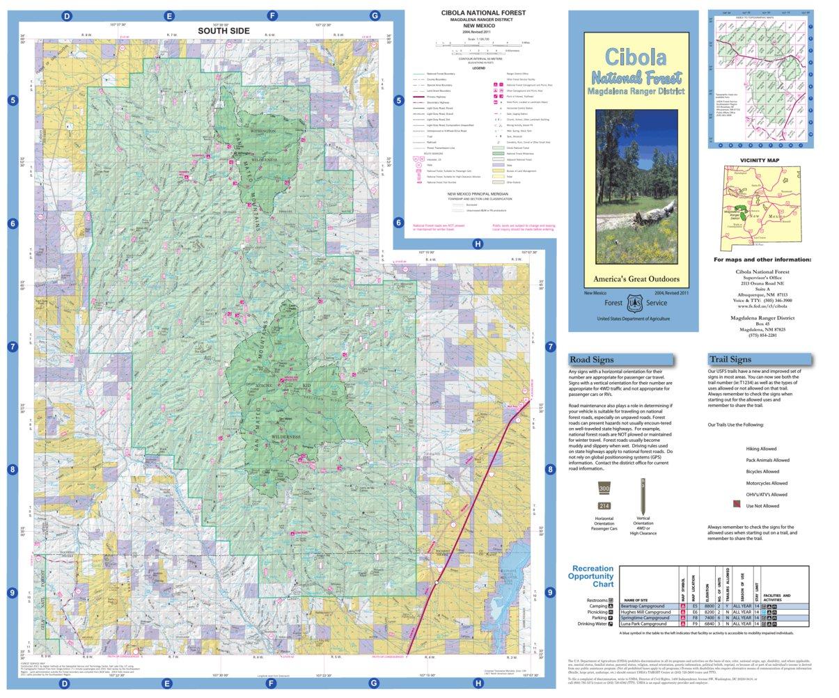 Cibola National Forest, Magdalena Ranger District (South Half) - US ...