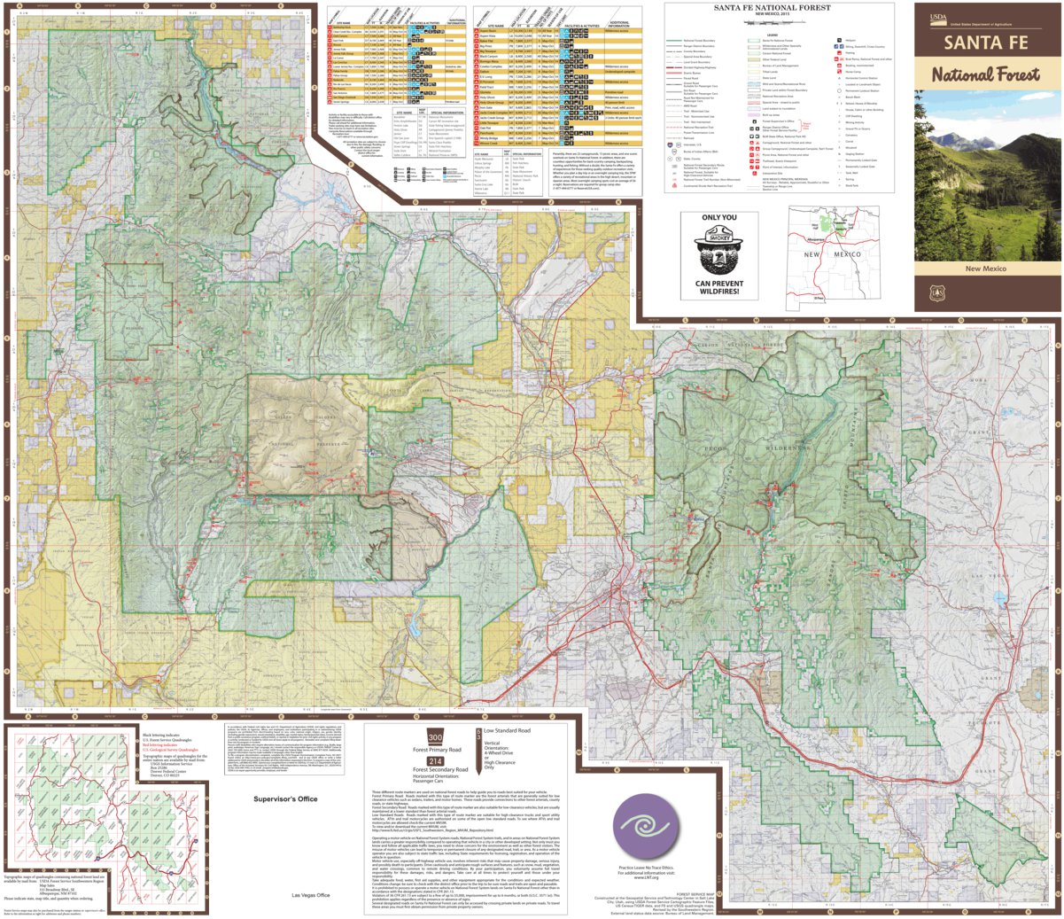 Santa Fe National Forest Visitor Map - US Forest Service R3 - Avenza ...