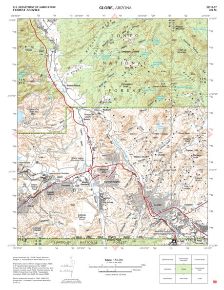 Tonto National Forest Quadrangle: GLOBE - US Forest Service R3 ...