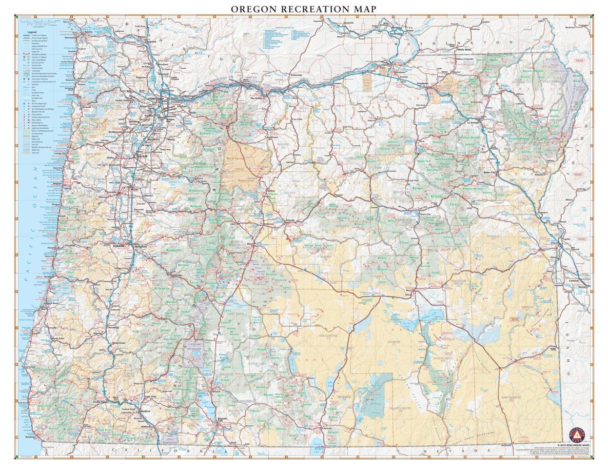 Oregon Recreation Map - Benchmark Maps - Avenza Maps