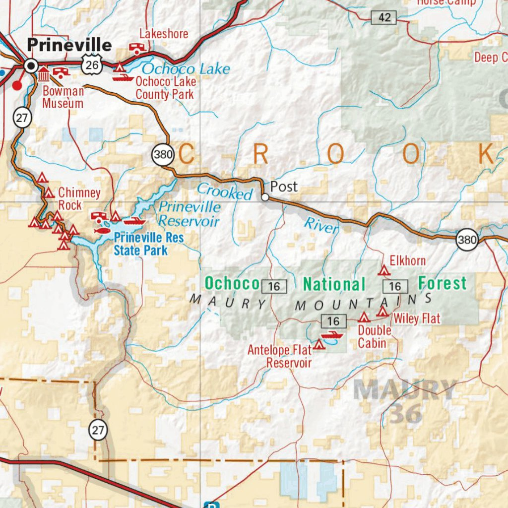 Oregon Recreation Map Benchmark Maps Avenza Maps