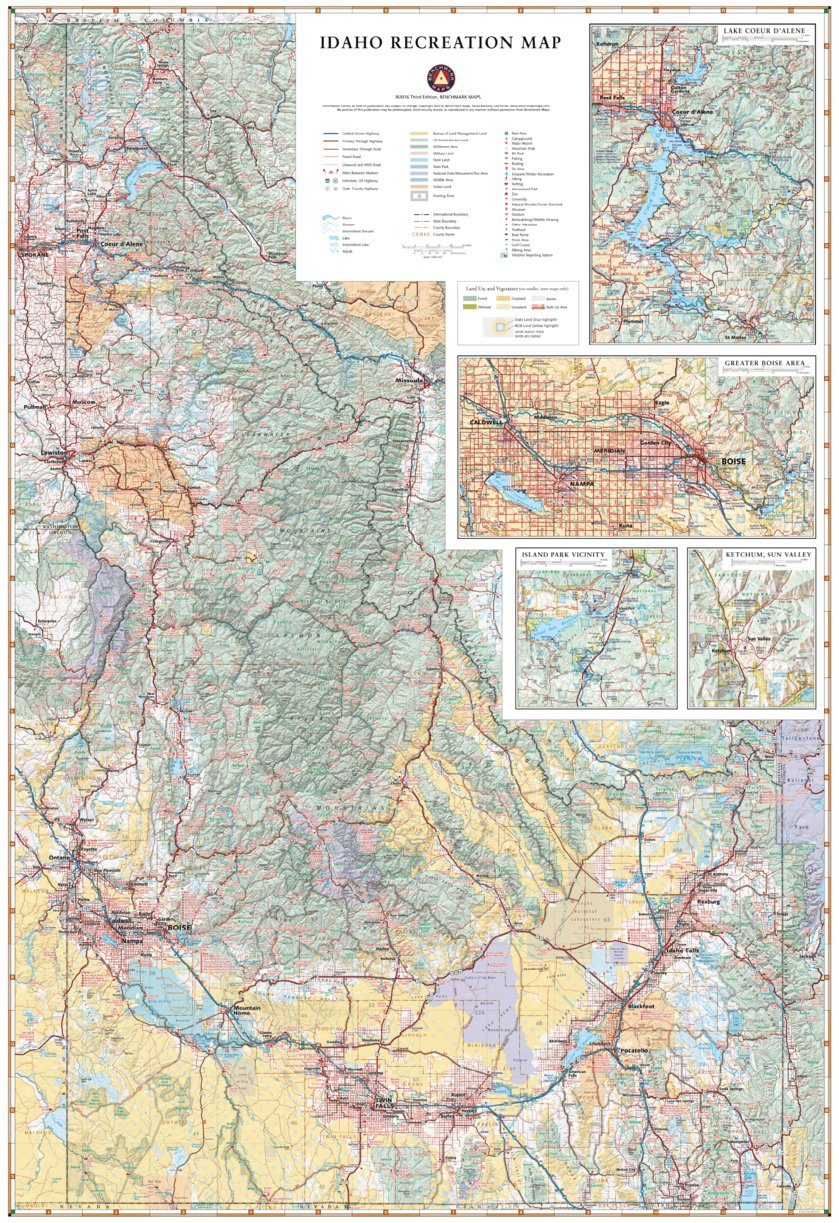 Idaho Recreation Map - Benchmark Maps - Avenza Maps