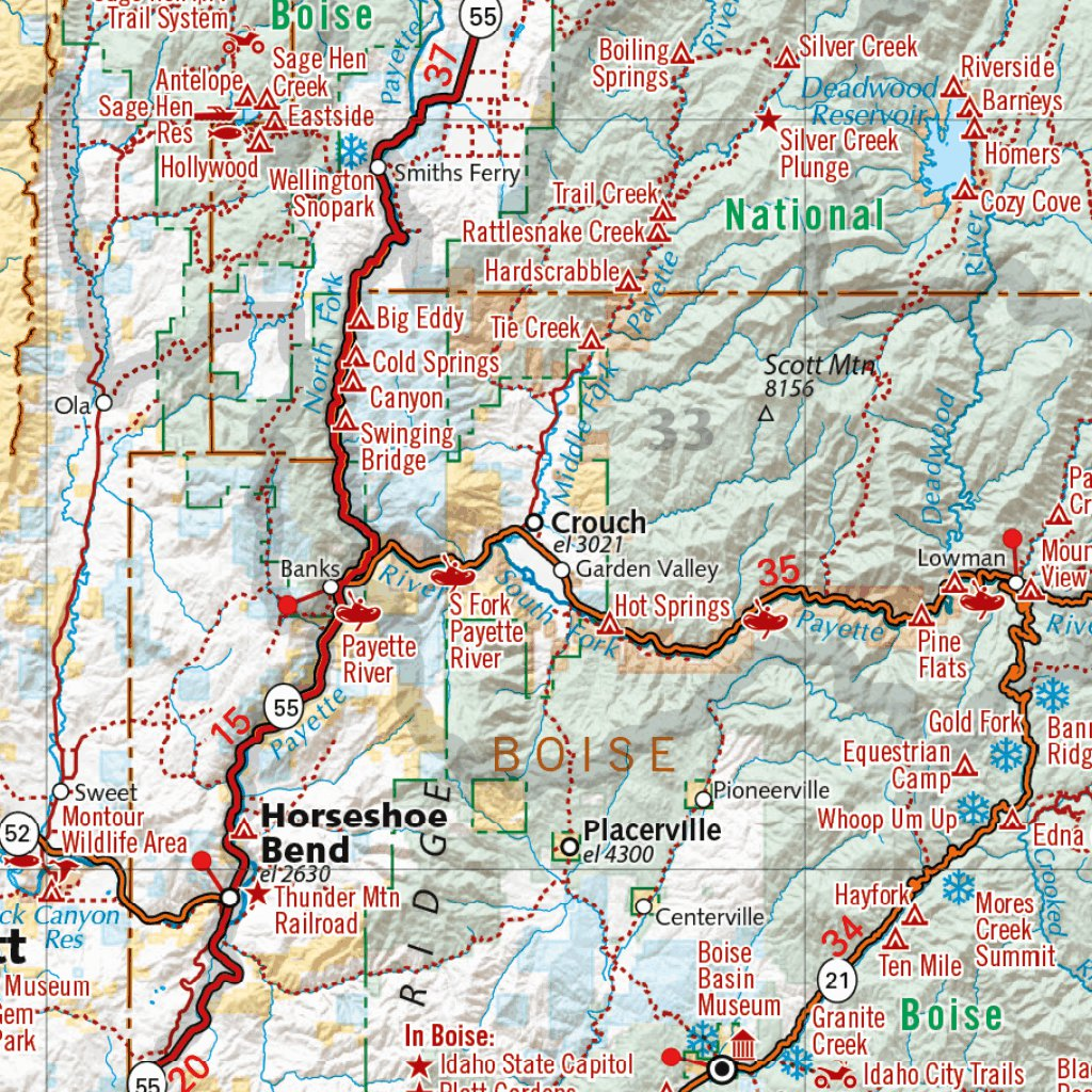 Idaho Recreation Map - Benchmark Maps - Avenza Maps on idaho rivers, idaho location on map, idaho county map, idaho blm maps, idaho nrcs mlra map, idaho natural resources map, boulder city idaho map, idaho department of lands map, u.s. federal land map, idaho hunting map, idaho most beautiful, kootenai county snow load map, idaho sand dunes map, idaho unit 28 elk population, new mexico blm land map, kootenai county zoning map, idaho land use map, idaho big game unit map,