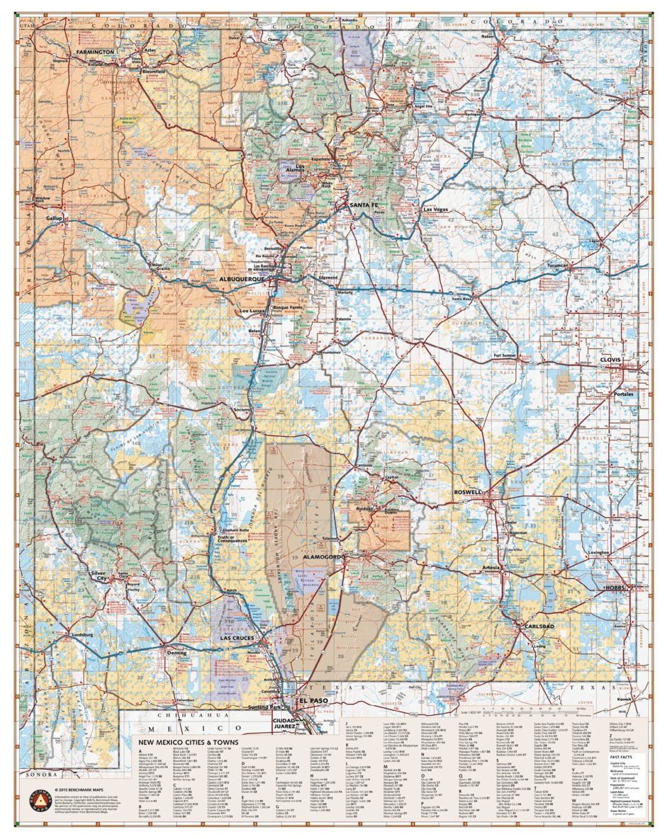 New Mexico Recreation Map - Benchmark Maps - Avenza Maps