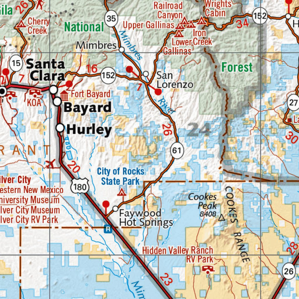 New Mexico Recreation Map - Benchmark Maps - Avenza Maps