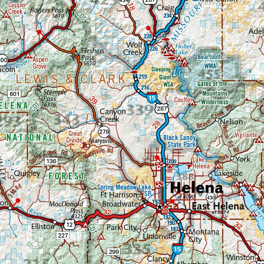 Montana Recreation Map - Benchmark Maps - Avenza Maps