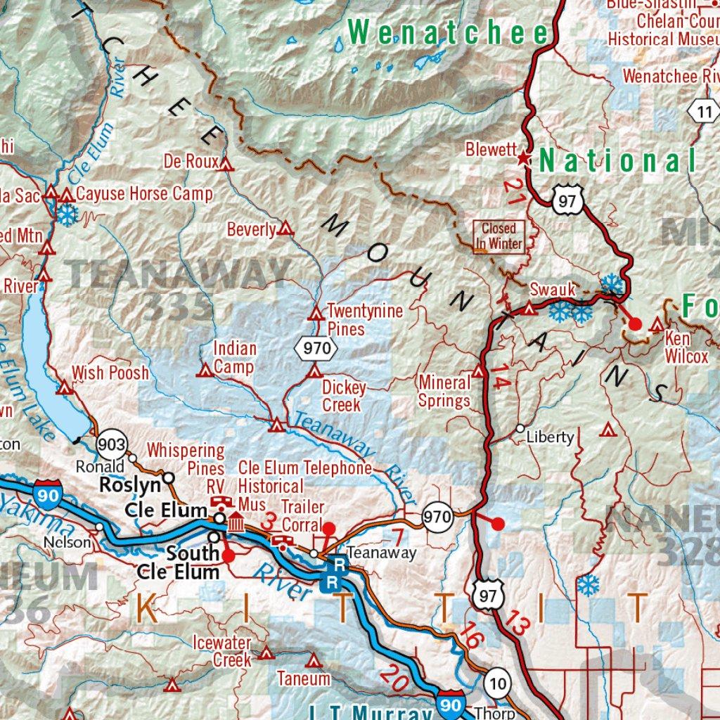 Washington Recreation Map - Benchmark Maps - Avenza Maps