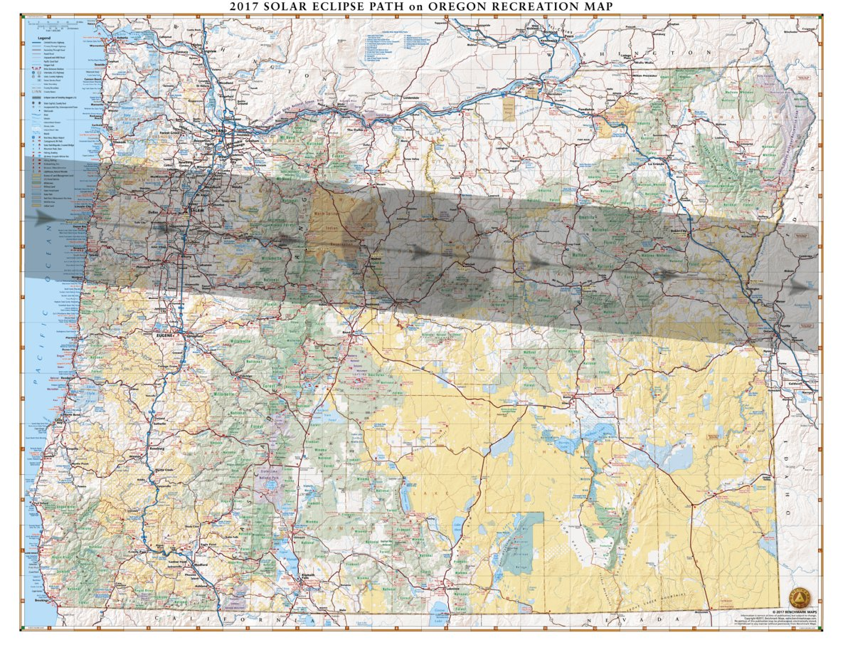 Oregon Solar Eclipse 2017 Map Benchmark Maps Avenza Maps