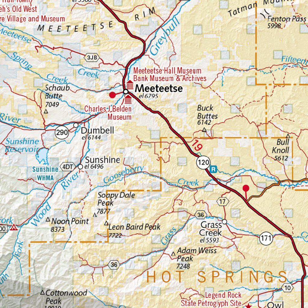 Wyoming Solar Eclipse 2017 Map Benchmark Maps Avenza Maps