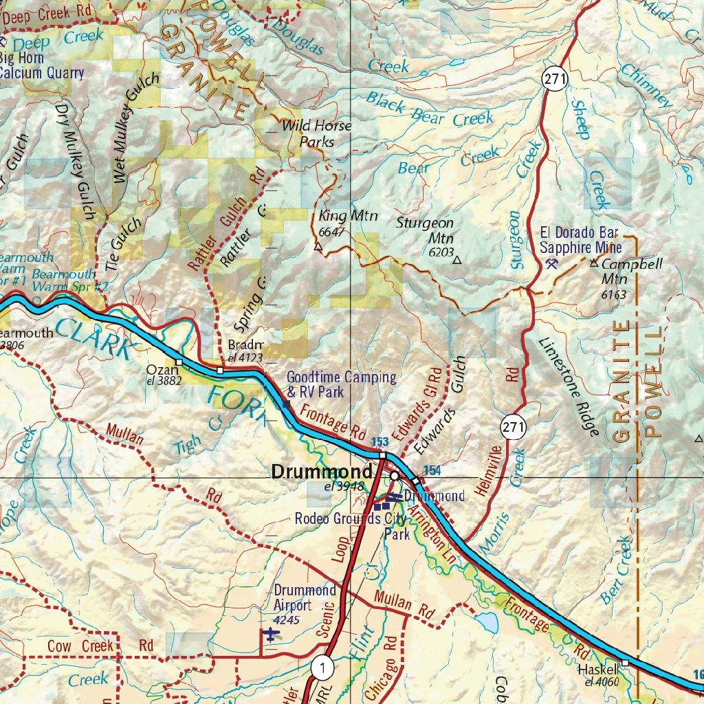 Montana Atlas Western Landscape Maps - Benchmark Maps - Avenza Maps