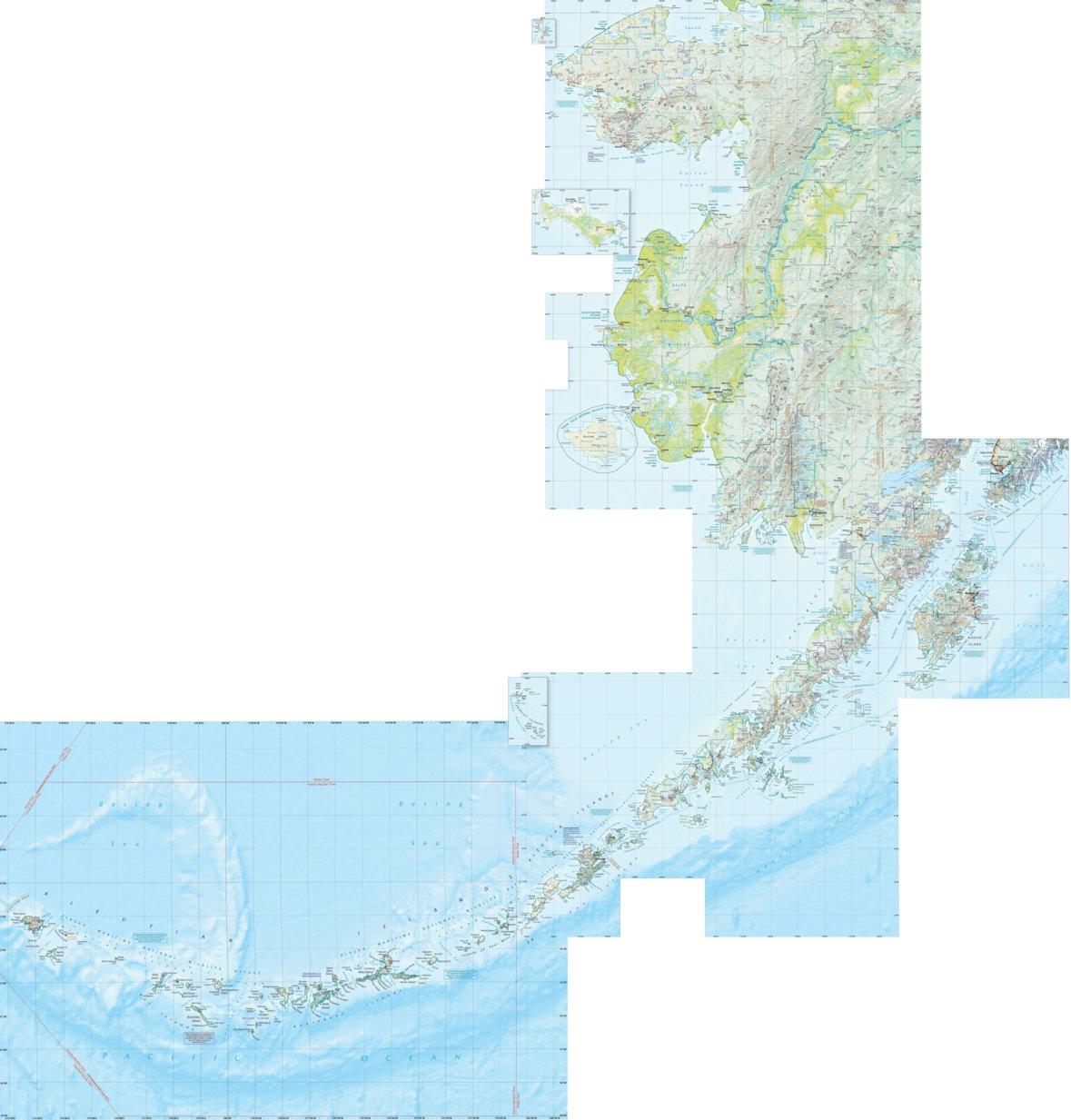 Alaska Atlas Southwest Landscape Maps Benchmark Maps Avenza Maps
