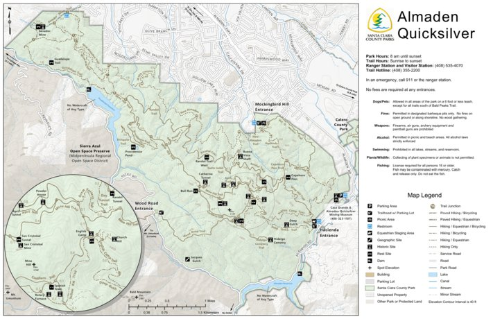 Almaden Quicksilver Guide Map - Santa Clara County Parks and ...