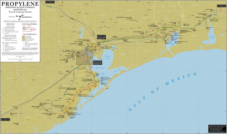 P2 Texas and Louislana Propylene Systems - PetroChem Wire - Avenza Maps